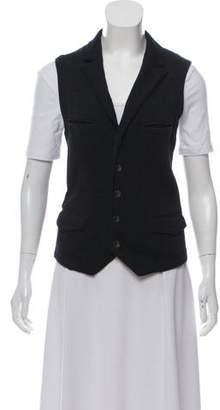 Rag & Bone Merino Wool Peak-Lapel Vest