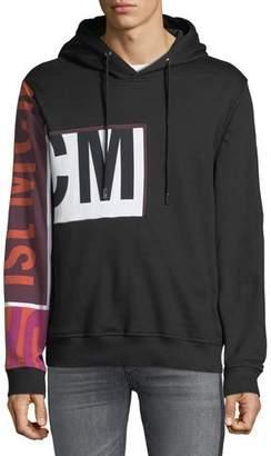 MCM Men's Contrast-Sleeve Pullover Hoodie