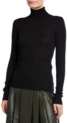 Gabriela Hearst Peppe Long-Sleeve Ribbed Turtleneck