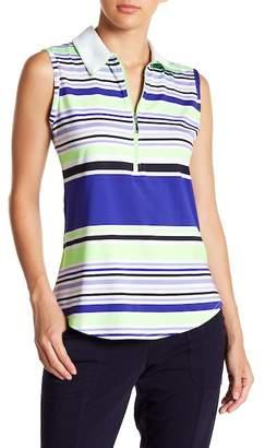JoFit Printed Sleeveless Polo Shirt