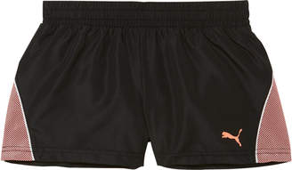Poly Woven Short W/ Mesh Overlay