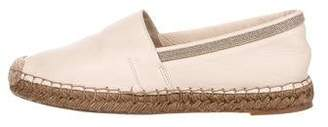 Brunello Cucinelli Leather Monili Espadrilles