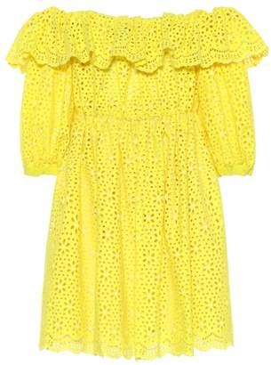 MSGM Off-the-shoulder cotton dress