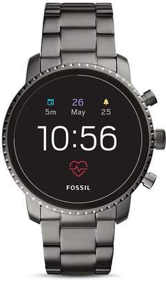 Fossil Q Explorist HR Gray Stainless Steel Touchscreen Smartwatch, 45mm