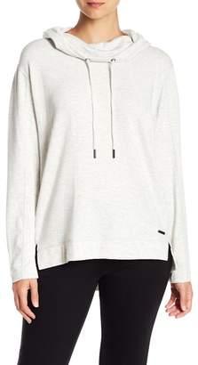 Donna Karan Fleece Lined Pullover Hoodie