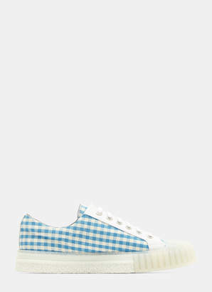 Adieu Checked Shell Toe Sneakers in Blue and White