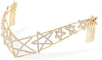 LELET NY - Gold-plated Crystal Headband