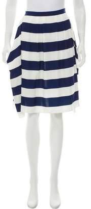 Tibi Striped Knee-Length Skirt