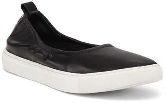 Sport Bottom Leather Ballet Flats