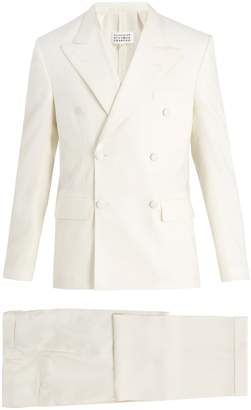 Maison Margiela Peak-lapel double-breasted wool-blend suit