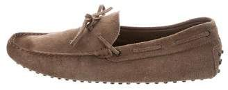 Tod's Suede Round-Toe Moccasins
