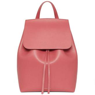 Mansur Gavriel Saffiano Backpack - Blush