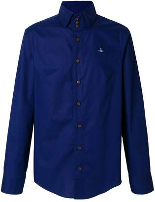 Vivienne Westwood Man logo embroidered shirt