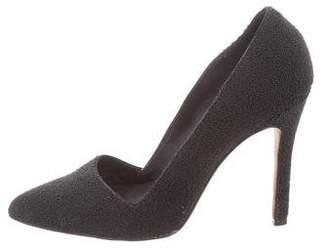 Alice + Olivia Textured Pointed-Toe Pumps