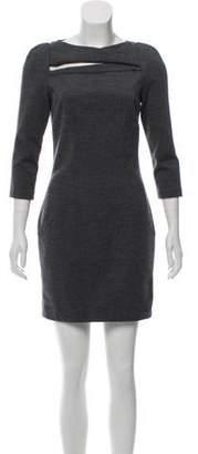 Diane von Furstenberg Slashed Wool Dress