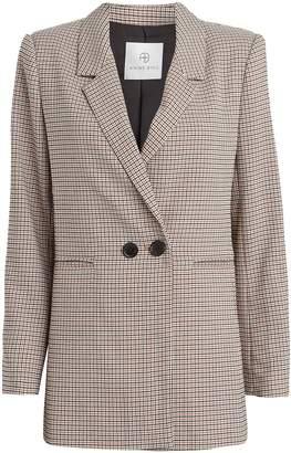 Anine Bing Madeleine Plaid Oversized Blazer