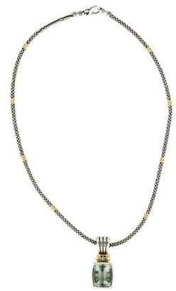 Lagos Prasiolite Caviar Pendant Necklace