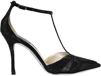 Rene Caovilla 100mm Swarovski Mesh T-Bar Sandals