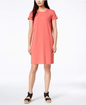 Eileen Fisher Stretch Jersey Short-Sleeve Shift Dress, Regular & Petite