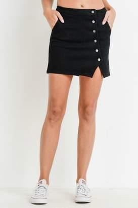 Pretty Little Things Asymmetrical Button Skirt