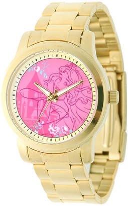 Disney Sleeping Beauty Womens Gold-Tone Stainless Steel Bracelet Watch