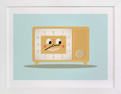 Mister Clark-Radio Self-Launch Children's Art Print