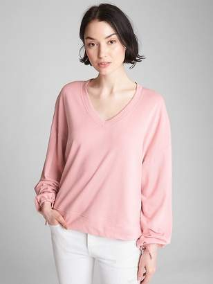 Gap Balloon Sleeve Pullover Sweatshirt in French Terry