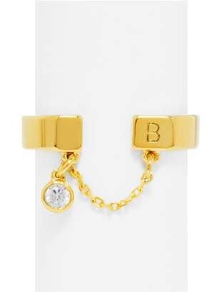 BaubleBar Mini Hollywood Initial Ring