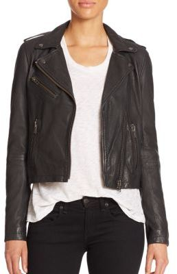 Doma Doma Washed Leather Moto Jacket