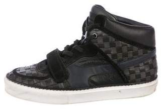 Louis Vuitton Damier Woven Leather Sneakers