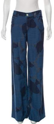 Armani Jeans Printed Mid-Rise Jeans
