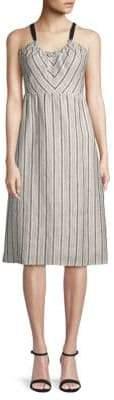 Lucca Couture Daphne Linen Midi Dress