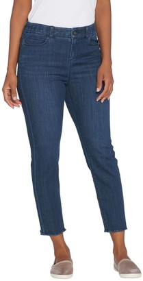 Kelly By Clinton Kelly Kelly by Clinton Kelly Regular Crop Jeans with Frayed Hem