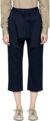 Studio Nicholson Navy Bonsai Trousers