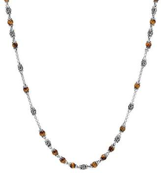 """John Hardy Sterling Silver Classic Chain Necklace with Tiger's Eye, 28"""""""