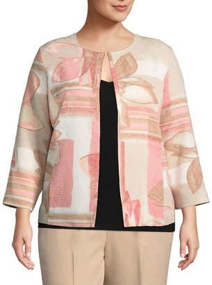 Alfred Dunner La Dolce Vita Floral Patch Jacket- Plus