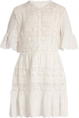 REBECCA TAYLOR Lace-trimmed cotton-voile dress $551 thestylecure.com