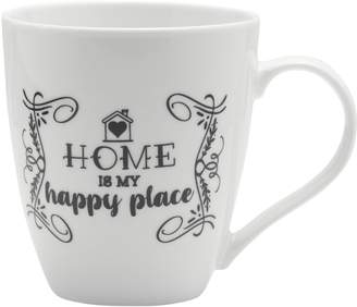 Mikasa Gourmet Basics Home Is My Happy Place Mug