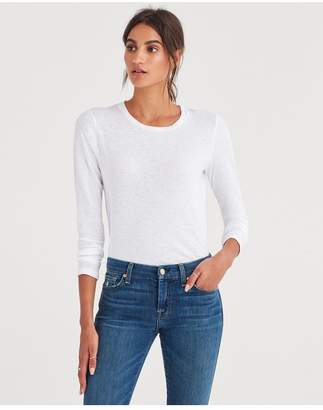 7 For All Mankind Baby Long Sleeve Tee In White