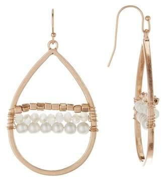 Melrose and Market Woven Beaded Teardrop Earrings