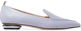 Nicholas Kirkwood Beya Leather Point-toe Flats - Lilac