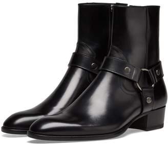 Saint Laurent Wyatt Harness Leather Boot