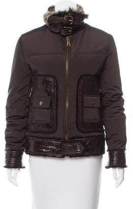 Dolce & Gabbana Shearling-Trimmed Short Coat w/ Tags