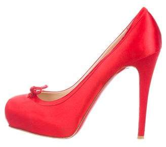 Christian Louboutin Satin High-Heel Pumps