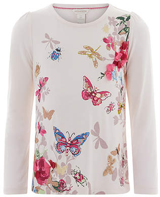 Monsoon Bessie Embellished Butterfly Top