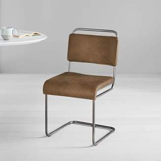 west elm Industrial Cantilever Leather Dining Chair