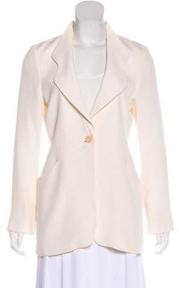 Giorgio Armani Clover Collar Button-Up Blazer