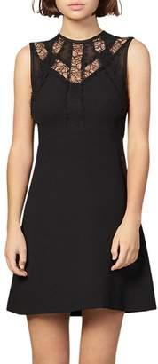 Sandro Enna Fit-and-Flare Mini Dress