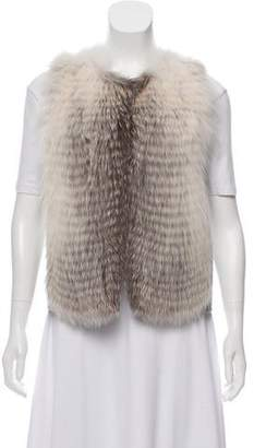 The Row Fur Trimmed Wool Vest