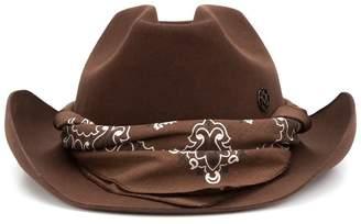 Maison Michel bandana detail hat